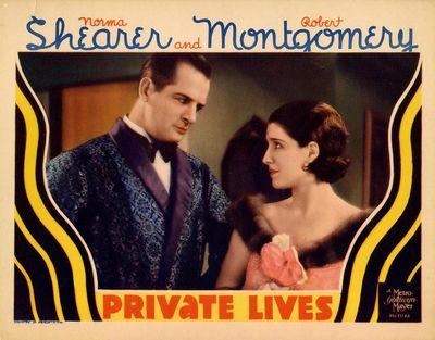 PRIVATE LIVES (1931) Lobby card