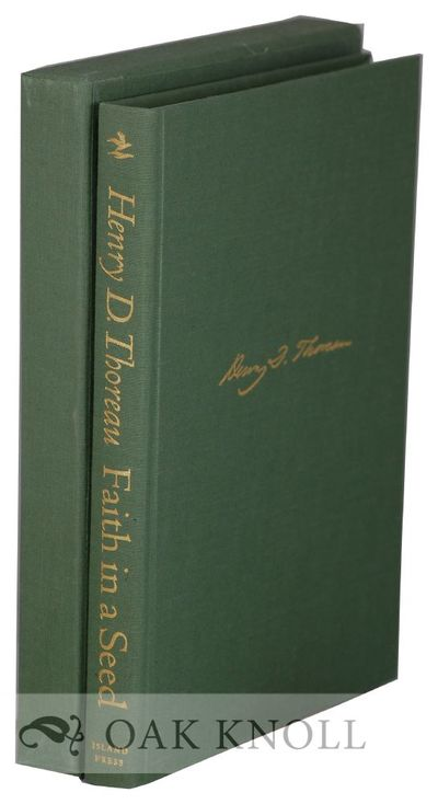 Washington, DC: Island Press and Shearwater Books, 1993. cloth, spine and front cover gilt-stamped, ...