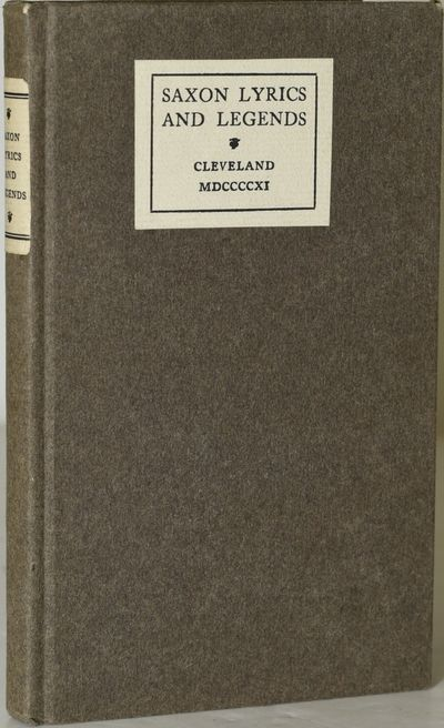 Cleveland: The Clerk's Press, 1911. Hard Cover. Very Good binding. Done into type and imprinted at t...