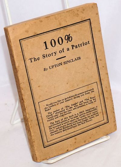 Pasadena, CA: published by the author, 1920. Paperback. 329p., wraps spottily foxed, paper browned, ...