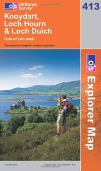 image of Knoydart, Loch Hourn and Loch Duich (OS Explorer Map Series)
