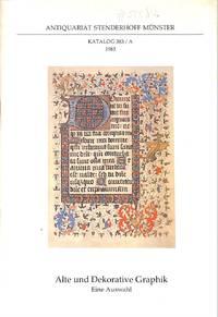 Catalogue 383/A/1983: Alte und Dekorative Graphik.