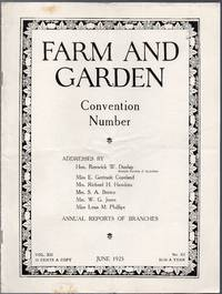 image of Vintage Issue of Farm and Garden Magazine for June 1925