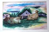 image of Cows at Robinhood, Maine I