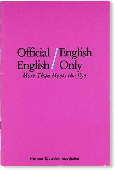: National Education Association, . First Edition. Octavo (23cm.); publisher's magenta staplebound c...