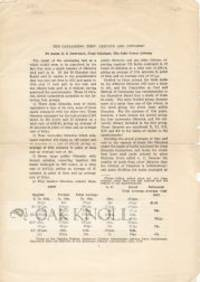 1916. self paper wrappers. 8vo. self paper wrappers. 3 pages. Reprinted from the Bulletin of the Ame...
