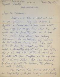 "Autograph Letter Signed (""Julia Child""), to Mrs. Fairbanks"