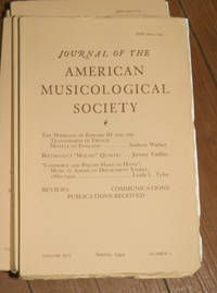 Journal of the American Musicological Society. Volume XLV Spring 1992, Number 1