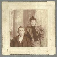 CABINET CARD OF YOUNG COUPLE GOODWIN'S STUDIO, PROVIDENCE, RHODE ISLAND