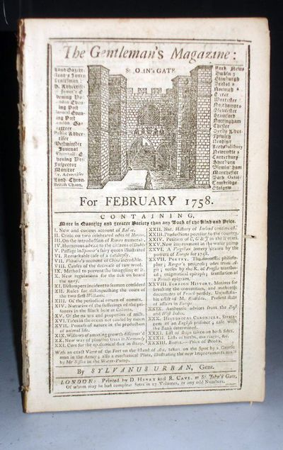 London: D. Henry and R. Cave, 1758. 49-96 pages. Jeremiah Sisson's