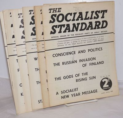 London: The Socialist Party of Great Britain, 1940. Issues 425, 427-432 435, missing issues426,433, ...