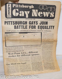 image of Pittsburgh Gay News: for the Pittsburgh area gay community; #12, Saturday, July 20, 1974: Pittsburgh Gays Join Battle for Gay Equality