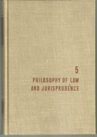 PHILOSOPHY OF LAW AND JURISPRUDENCE, Adler, Mortimer