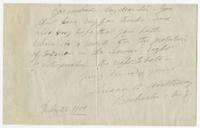 [AUTOGRAPH NOTE, SIGNED, BY SUSAN B. ANTHONY, WRITING ABOUT THE