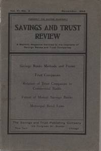 Savings and Trust Review, Volume 6, Number 2, November 1904