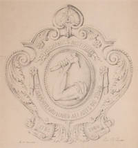 """Original pencil design for a plaque for the Mechanic's Institute; signed """"Geo. R. Benda"""" and inscribed """"1/2 of full size"""""""