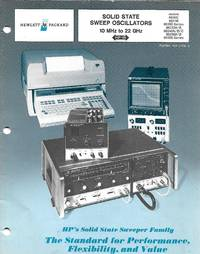 Hewlett Packard Solid State Sweep Oscillators -1978 Vintage Catalog