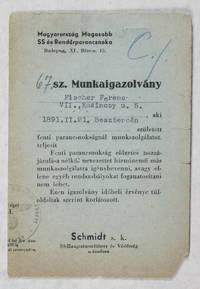 Arbeitsausweis No. 67