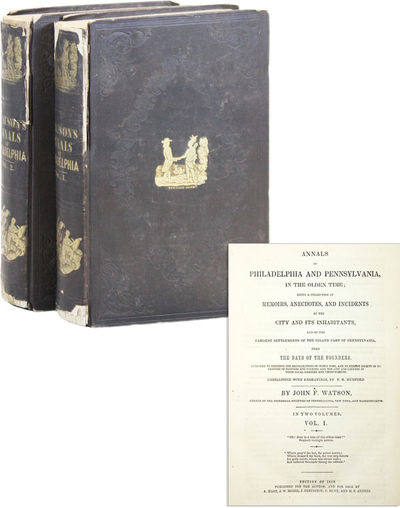 Location not stated: Privately published, 1850. Later edition. Two thick octavos (23cm); brown picto...