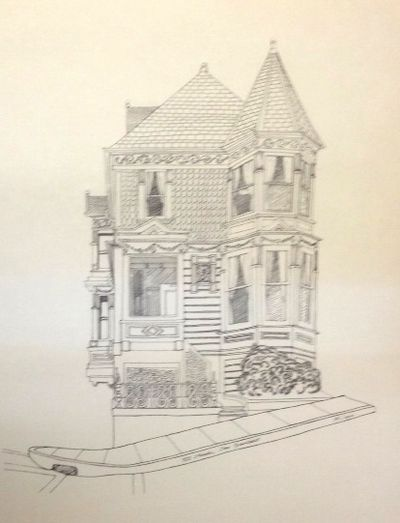 San Francisco: n.pub, n.d.. 13x19.75 inch poster, featuring a sketch of one of the