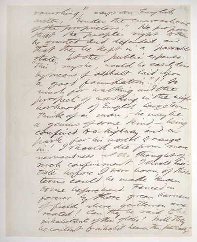 1851 Autograph manuscript in Thoreau's hand; off-white paper with one horizontal crease and a few st...
