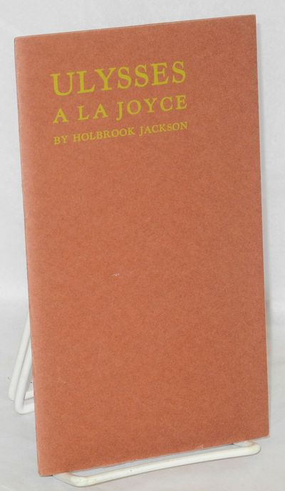 Berkeley Heights, NJ: The Oriole Press, 1961. Pamphlet. 11p., wraps, one of 150 copies, 4.5x7.5 inch...