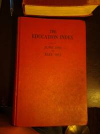 The Education Index, June 1951 - May 1952