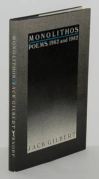 MONOLITHOS. Poems, 1962 and 1982