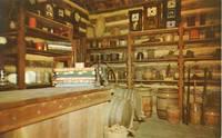 Interior, Hill-McNamar Store, New Salem State Park, Illinois 1960s unused Postcard