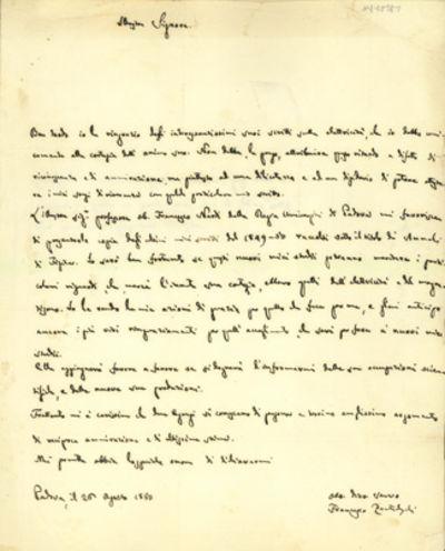 1850. Very Good. Zantedeschi, Francesco (1797-1873). A.L.s. to Charles V. Walker (1812-82). Padua, A...