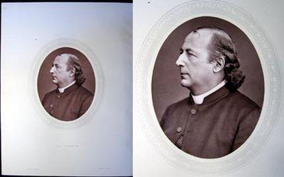 London: Sampson Low, Marston, Searle, & Rivington, 1876. A sharp and clear oval Woodburytype portrai...