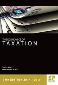 Economics of Taxation 2014/15