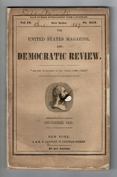 New York: J. & H. G. Langley, 1841. First edition of this story, 8vo, pp. 32, iv, , 516-612; engrave...