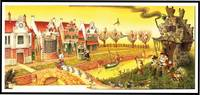 ORIGINAL ART: MOTHER GOOSE AND THE SLY FOX / VILLAGE SCENE