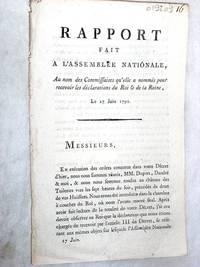 RAPPORT fait à l'Assemblée Nationale, au nom des commissaires qu'elle a...