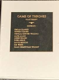 GAME OF THRONES (Pilot Script) Winter Is Coming Multi-Signed Shooting Script