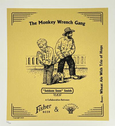 A. Fisher Brewing Company; Ken Sanders Rare Books, 2020. Limited Silkscreen Print. New. R. Crumb. Go...