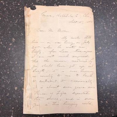 Other. Folded letter from Edith M. Thomas; Some wear to the edges, fading, toning. Autograph clear. ...