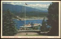 C.P.R. STEAMER SAILING FOR VICTORIA AND SEATTLE, LIONS GATE BRIDGE,  VANCOUVER, BRITISH COLUMBIA,...