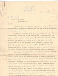1906 Typed Letter Signed on His Personal Stationery to United States Senator Knute Nelson,  Discussing  Bates' Plan for Building the Panama Canal