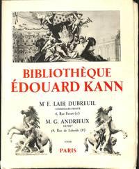 Vente 14-15 nov. 1930: Bibliothèque Édouard Kann: Livres Rares Ou  Documentaires.