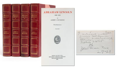 Boston: Houghton Mifflin, 1928. First edition. Near Fine. Four volumes finely bound in crushed three...