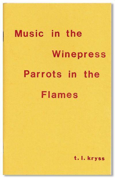Ellensburg, WA: Vagabond Press, 1976. First Edition. Slim octavo; illustrated card wrappers, stapled...