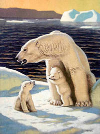 A Family of Polar Bears by  Edward  (1900-1981) Osmond - Signed - from Alan Wofsy Fine Arts (SKU: 16-3149)