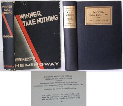 Scribner's. 1st Edition. Hardcover. Dust Jacket Included. Scarce first edition, 1933. Book near fine...