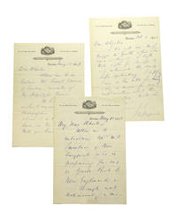 3 Autograph Letters, signed, to A.W. Wheeler, Librarian of Boston Public Library