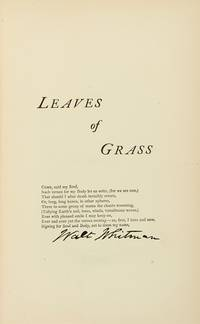 image of Leaves of Grass (Included in this Complete Poems_Prose of Walt Whitman 1855.1888)
