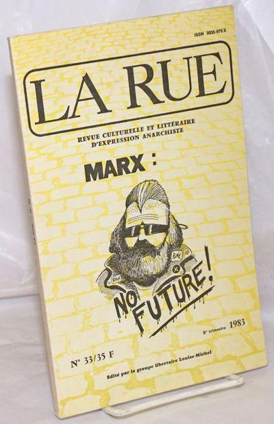Paris: Le Groupe Libertaire Louise-Michel, 1983. 100p., wraps, 6x9.5 inches, very good condition. Te...