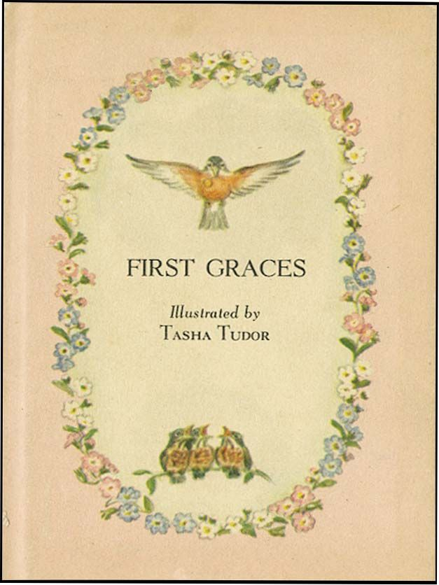 First graces by tasha tudor signed from aleph bet for Tudor signatures