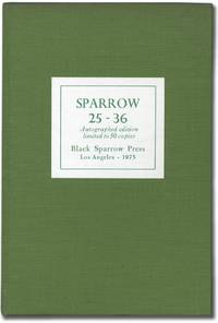 Sparrow 25-36 Autographed Edition Limited to 50 Copies